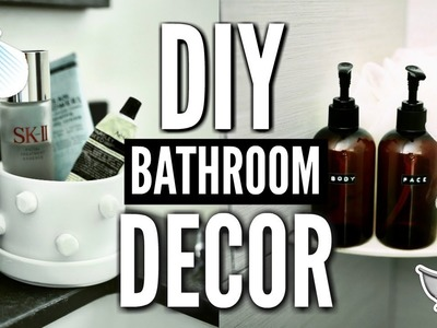 DIY BATHROOM DECOR! How To Decorate For Cheap! ????????✂????
