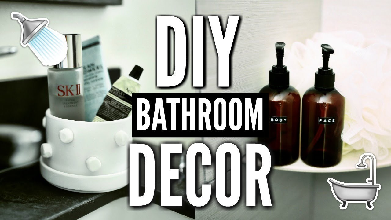 Diy bathroom decor how to decorate for cheap for Cheap restroom decor