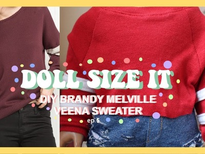 DIY BRANDY MELVILLE SWEATER FOR DOLLS | DIY BACK TO SCHOOL CLOTHES