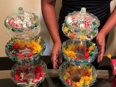 DIY candy dish.dollar tree candy dish for party-weddings-baby shower or at home centerpiece