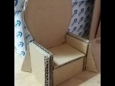 DIY cardboard Game of throne chair