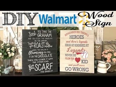 DIY Custom Sign Using WALMART Premade Pallet Board