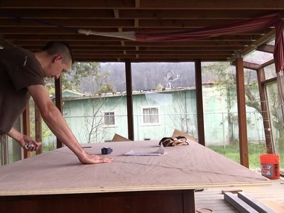 DIY cutting a triangle from a sheet of plywood
