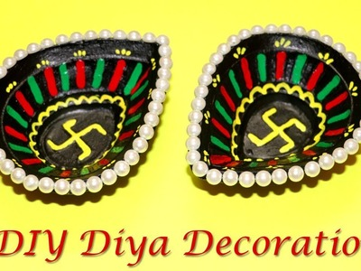 DIY Diya Decoration for Diwali | Designer Diyas | Little Crafties
