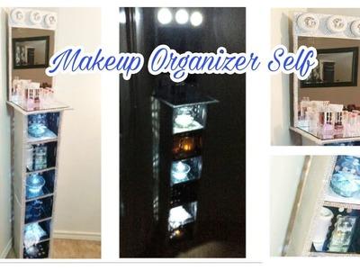 DIY: Dollar Tree and Walmart Glam Shelf | Makeup Vanity