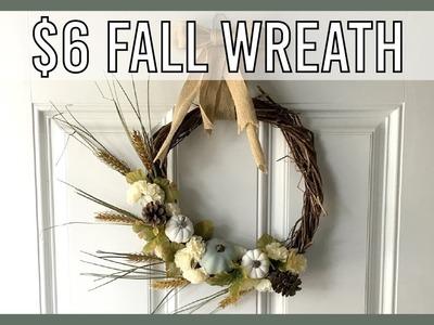 DIY - Dollar Tree - Fall Wreath
