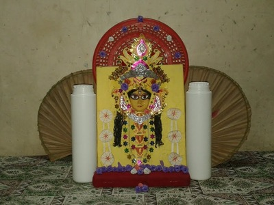 DIY Durga Puja Home Decoration Ideas with Household Items