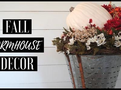 DIY FALL HOME DECOR | FALL FARMHOUSE CENTER PIECE