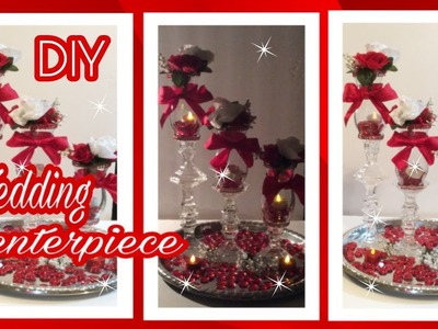DIY GLAMOROUS WEDDING CENTERPIECE. Dollar Tree Glam Decor.Michael's.Simply Easy #2
