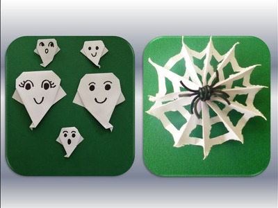 DIY HALLOWEEN QUICK AND EASY GHOST DECORATION; ORIGAMI HALLOWEEN GEIST SCHNELL + EINFACH