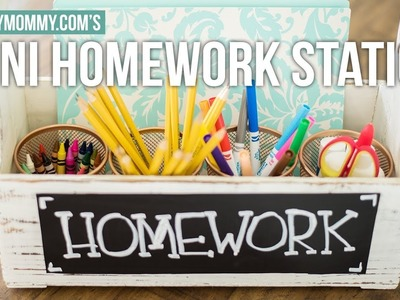 DIY Mini Homework Station for Back to School | The DIY Mommy