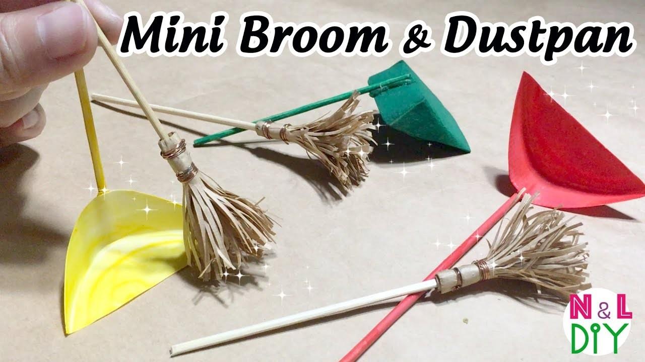 DIY Miniature Broom & Dustpan for Dollhouse | How to make mini Broom & Dustpan