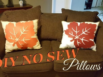 DIY NO SEW FALL HOME DECOR PILLOWS UNDER $6 | DOLLAR TREE DIY INSPIRED BY TRISH DAVIS | FALL 2017