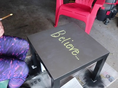 DIY PAINTED TABLE!!!
