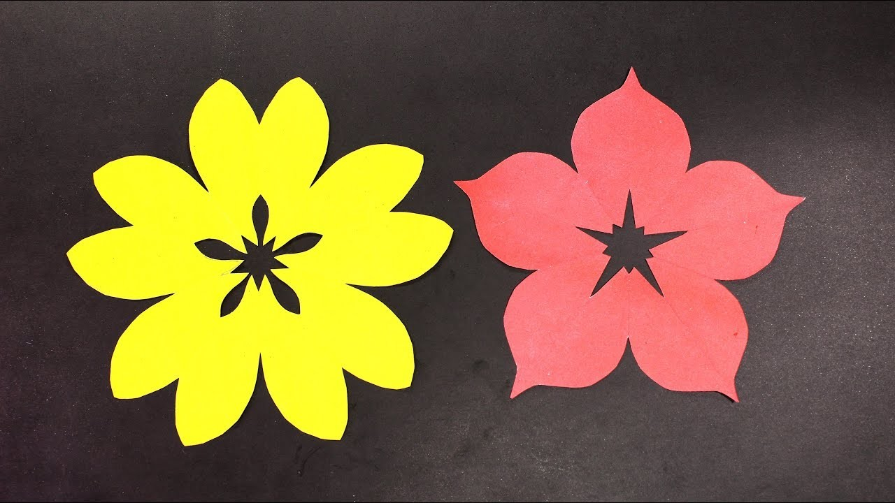 how to make paper flower bokeh at home