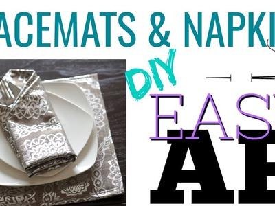DIY Placemats and Napkins | Easy DIY | AMBER MANCHA