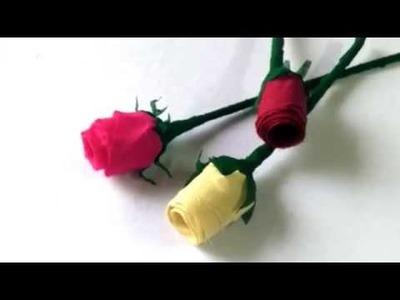 DIY rose flower made from leftover cloth. गुलाब के फूल बनाइये अस्तर के कपडे से