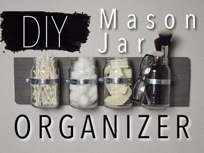 DIY RUSTIC MASON JAR ORGANIZER | Home Decor