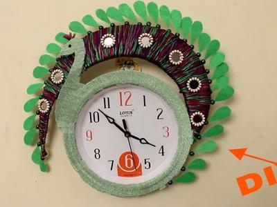 DIY ???? Wall clock decoration Idea ???? Designer Clock decoration???? Room decoration idea
