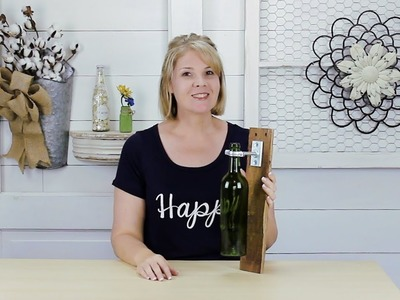 DIY Wine Bottle Holder Recycling Project
