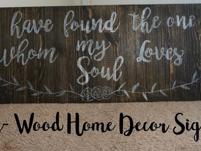 DIY- Wood Home Decor- Bible Verse