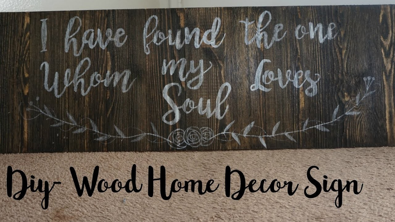 DIY- Wood Home Decor- Bible Verse