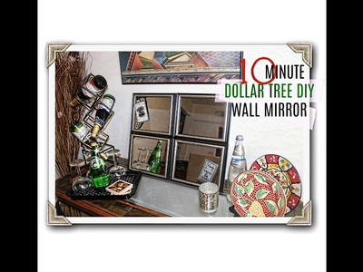 DOLLAR TREE DIY Wall Mirror | QUICKEST DIY Mirror 10 minutes!