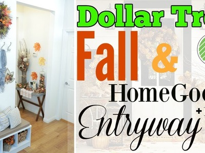 Dollar Tree + HomeGoods Fall Entryway Ideas! + Dollar Tree DIY