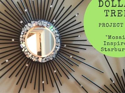 Dollar Tree.Walmart DIY - ????Mosaic Inspired Starburst Wall Mirror????