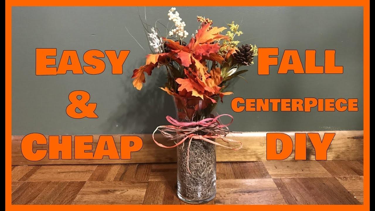 Easy cheap fall centerpiece diy