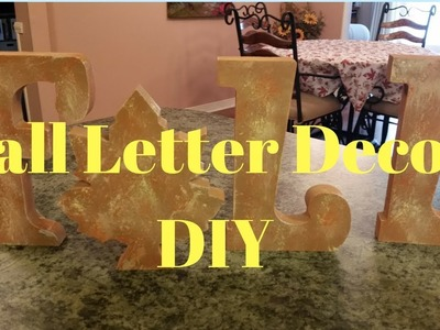 Fall Letter Decor DIY