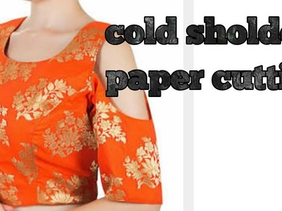 Fasion designer cold shoulder paper cutting