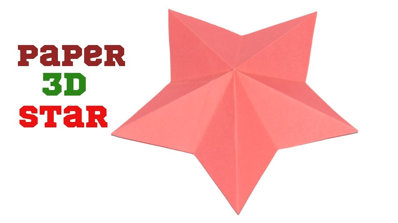 How to make a 3d paper star easy origami stars for for How to make 3d paper stars easy