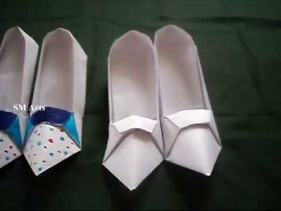 How To Make A  Paper Design Shoes l Origami High Heels l For Kids