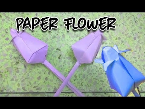 How To Make A Paper Flowers Origami Lotus Flower Hindi