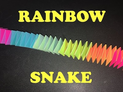 How to make a paper RAINBOW SNAKE ! EASY !