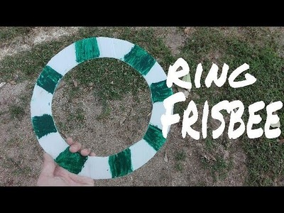 How to make a Ring Frisbee.(diy Glider toy)