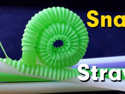 How to make a snail with plastic straws | Diy art straws