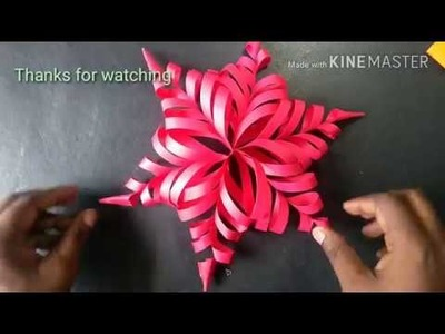 How to make beautiful flower by coloue paper;paper craft