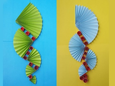 How To Make Easy Paper Wall Hanging !!!!