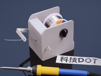 How to Make Electric automatic Soldering Solder Wire Reel Holder Stand DIY自制电动焊锡丝支架