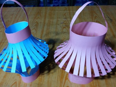 How To Make Flower Pot Using Paper Origami | Amazing Flower Pot Using Paper Craft