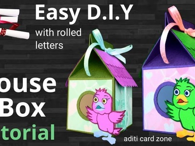 How to make gift box with paper | Diy box tutorial | Handmade gifts |