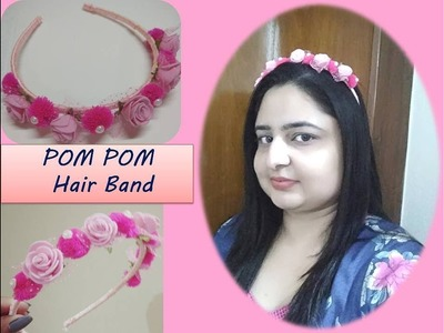 How to make Pom Pom Hair band. DIY Hair accesories easy and quick