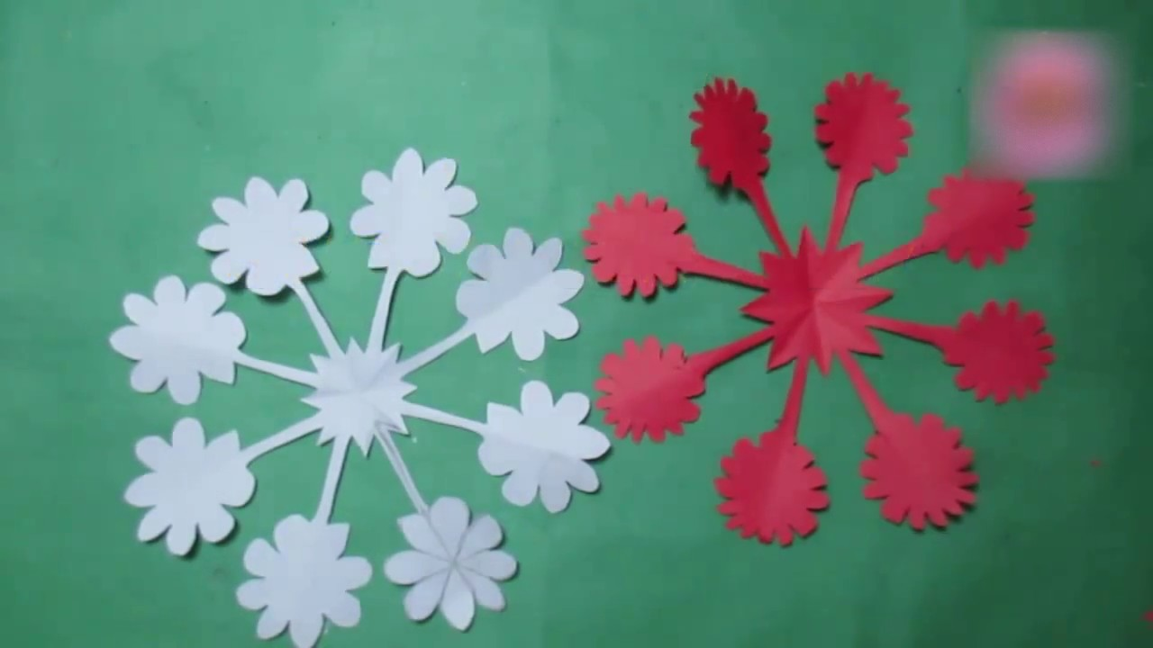 How to make simple easy paper cutting flower designs my crafts and diy projects for Easy paper cutting flowers