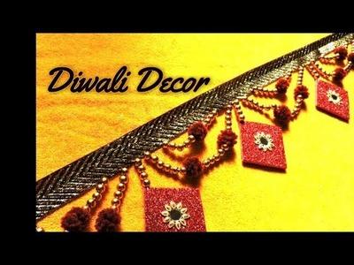 How to make Toran. Bandanwar. Door Hanging || DIY Diwali Decoration Ideas at Home ||