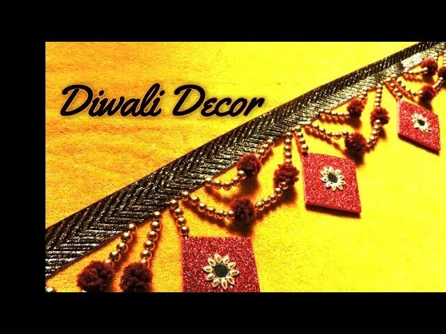 How to make Toran. Bandanwar. Door Hanging    DIY Diwali Decoration Ideas at Home   