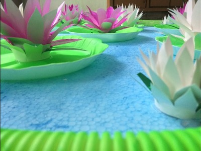 Latest Living Room Decoration-DIY|| Lotus Pond || Easy Home Decoration.