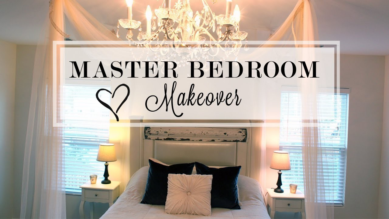 Master Bedroom Makeover Diy Shabby Chic Update My Crafts And Diy Projects
