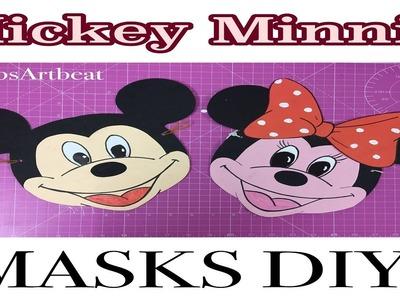 Minnie and Mickey Masks DIY